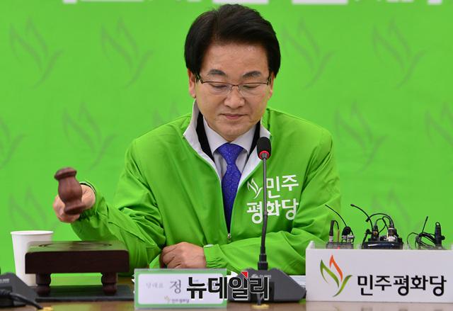 [포토] 의사진행하는 정동영 평화당 대표